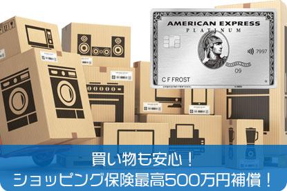 買い物も安心!ショッピング保険最高500万円補償!