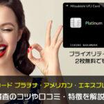 三菱UFJカード プラチナ・アメリカン・エキスプレスカードの審査のコツや口コミ・特徴を解説!