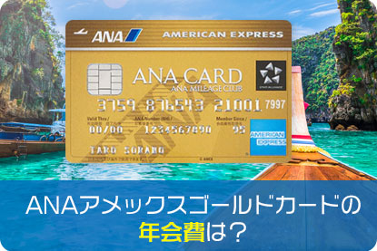 ANAアメックスゴールドカードの年会費は?