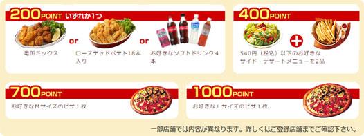 ピザーラポイントでピザが貰える!